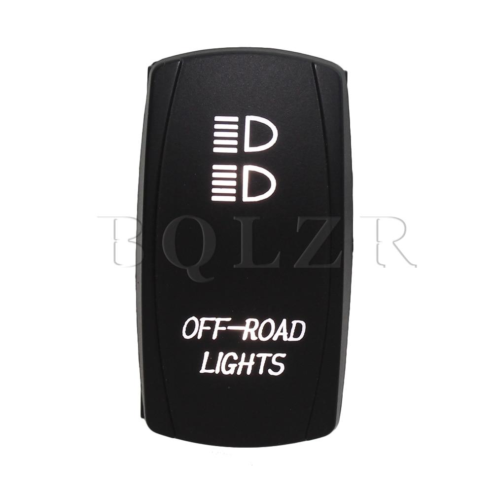 BQLZR 7pin Waterproof IP68 ON-OFF-ON Rocker Switch White Off-Road Lights DC12-24V bqlzr 5 pin waterproof white led light park brake 5 pin on off rocker switch for truck