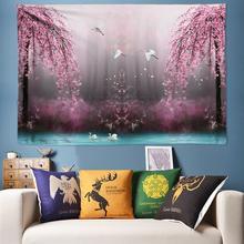 Romantic Flower Bird Large Tapestry Wall Hanging Mandala Hippie Boho Psychedelic Art Rug 120X160 170X240 200X300CM