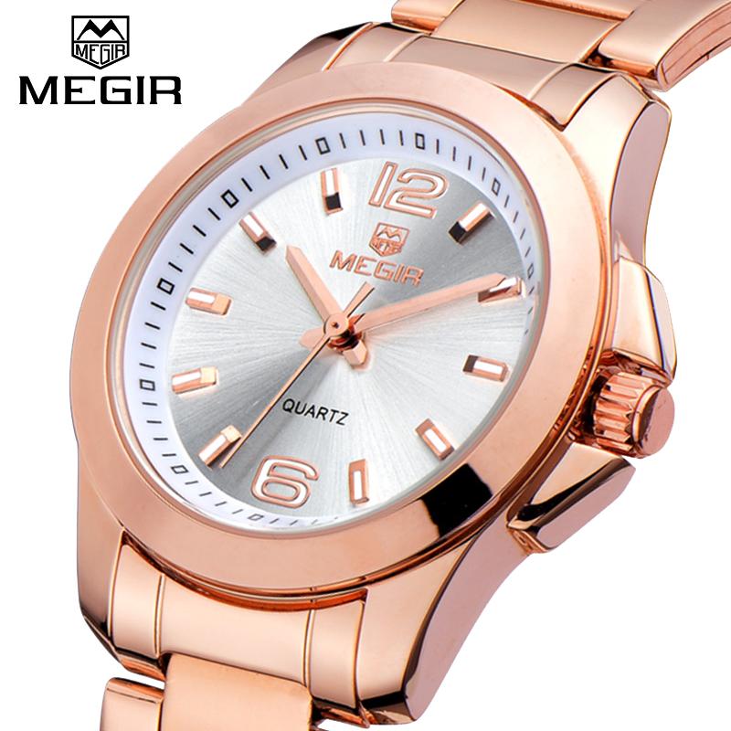 Prix pour Fanous Marque MEGIR De Luxe Dames Montre Marque Femmes Montres Mode Montre À Quartz Montre Femme Horloge Femme Reloj Mujer 2016