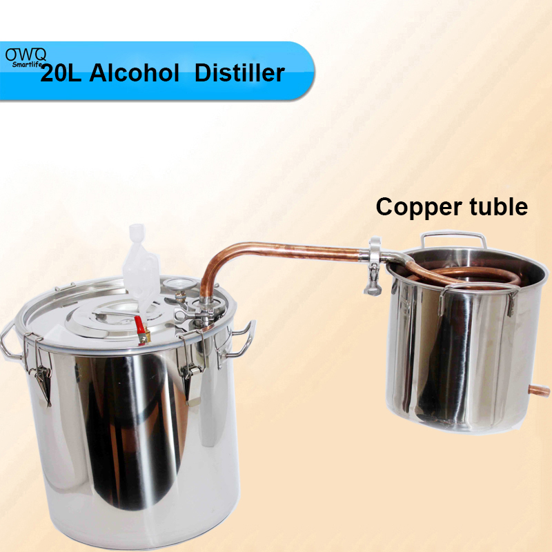 20L Alcohol Beer Wine Whisky Distiller Moonshine Ethanol Copper Tube Distiller Spirits Alcohol Distillation