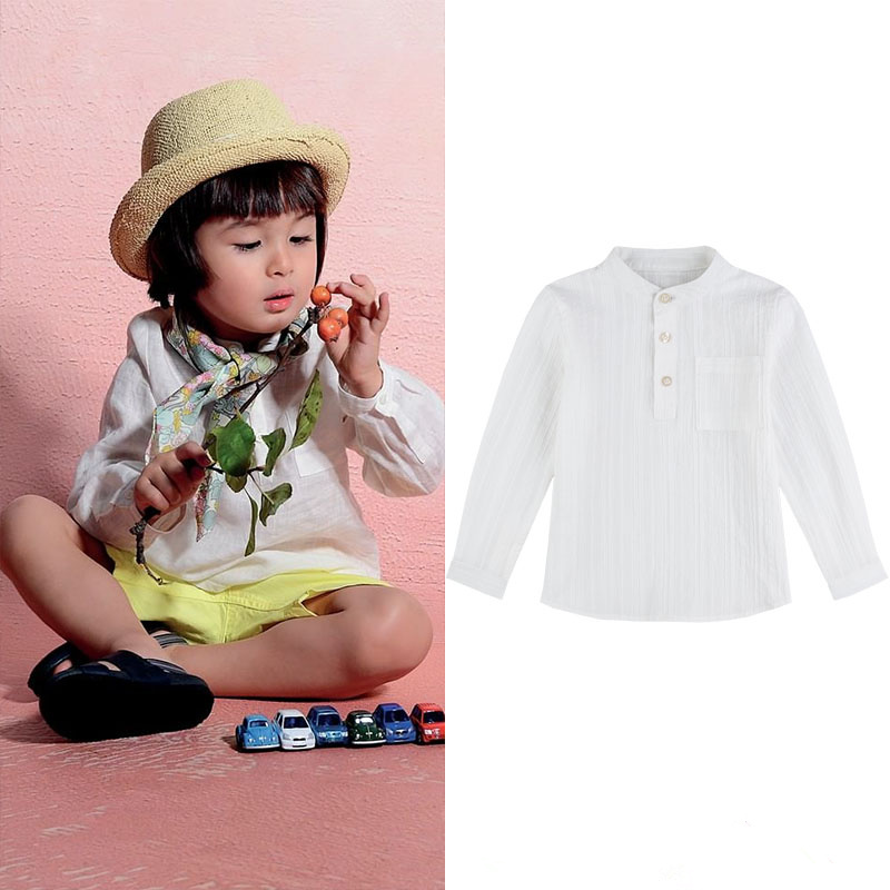 Brand Boys Clothing Cotton Raglan Dark Jacquard Classic Collar Long Sleeve White Shirt TopBrand Boys Clothing Cotton Raglan Dark Jacquard Classic Collar Long Sleeve White Shirt Top