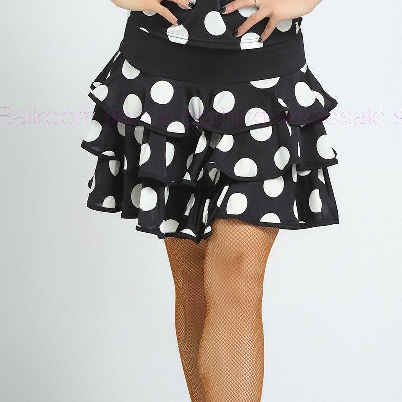 ab079721662a470 ⓪Новинка! Молочный шелк латинские танцы юбка Сексуальная Точки ...