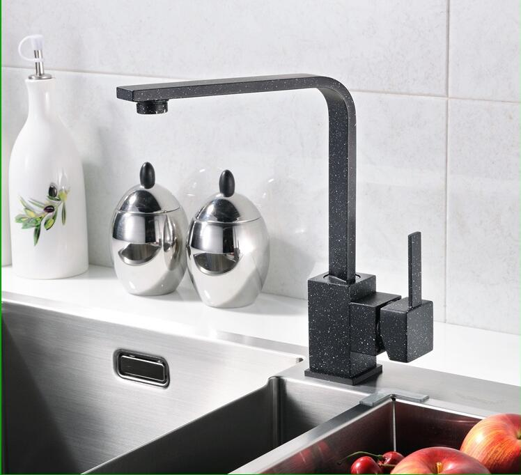 kitchen  Vidric Faucet!Full copper basin quartz stone a faucet can be universal rotation black color hot and cold  faucet 1pcs/lkitchen  Vidric Faucet!Full copper basin quartz stone a faucet can be universal rotation black color hot and cold  faucet 1pcs/l