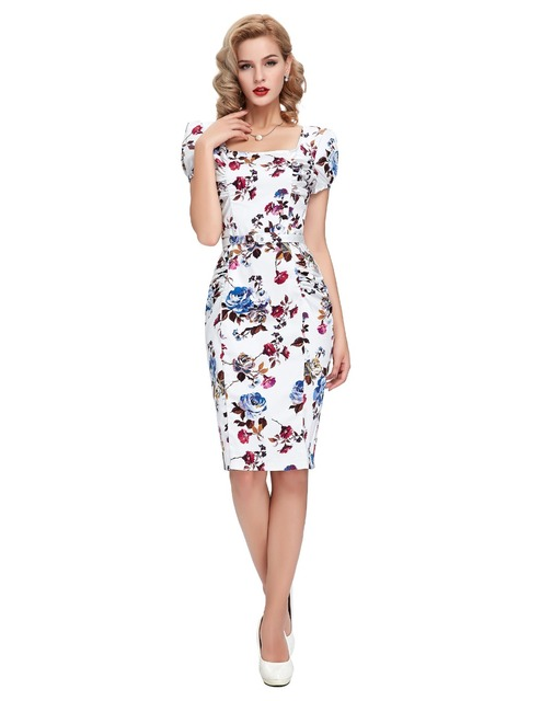 Aliexpress Buy Short Sleeve Cocktail Dresses Cotton Printed