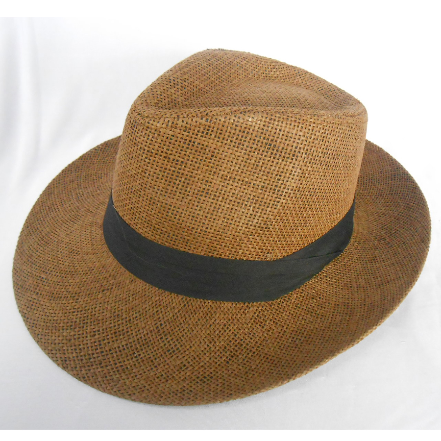 Fashion Unisex Monte Cristo Straw Fedora Panama Hat Cowboy Sun Cap With  Black Band-in Fedoras from Apparel Accessories on Aliexpress.com  d2598e6ddfd