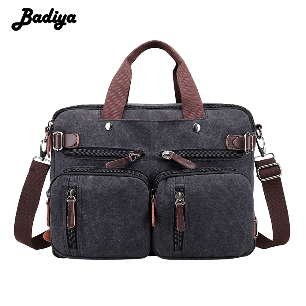 New Large Capacity Men S Canvas Messenger Bag Brief Design Vintage Shoulder Bag For Men Casual