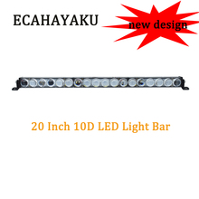 ECAHAYAKU 1x Single Row 90w 20 inch Led Light Bar 6d Spot Flood Beam LED Work offroad For ATV SUV 4WD Motorcycle truck utv
