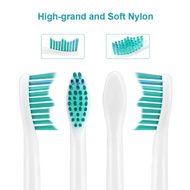 4pcs Electric Toothbrush Replacement Heads For Philips Sonicare HX6014 DiamondClean FlexCare ProResults HX6064 HX6930 HX9340 in Replacement Toothbrush Heads from Home Appliances