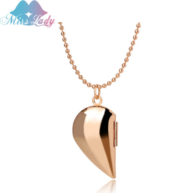Miss lady love heart floating open locket pendant necklace gold miss lady love heart floating open locket pendant necklace goldsliver color photo jewelry necklaces aloadofball Gallery