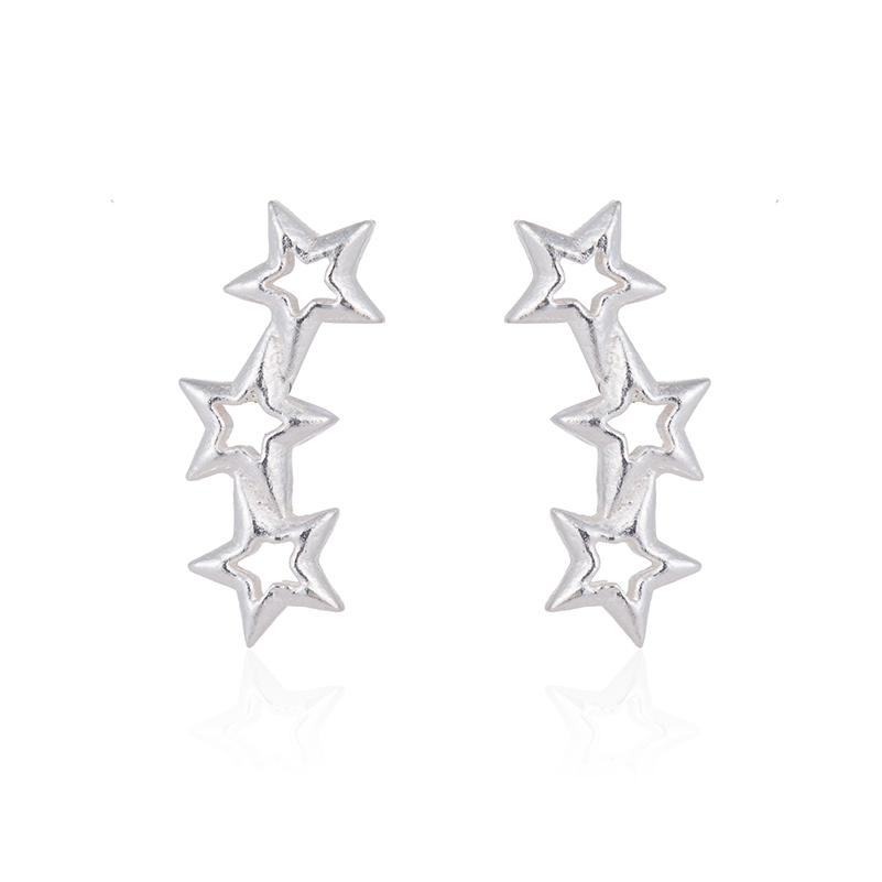 Hfarich Fine Jewelry 925 Sterling Silver Earrings Classic Star Earrings for Women Small Tiny Women Earrings Star Wedding Gifts