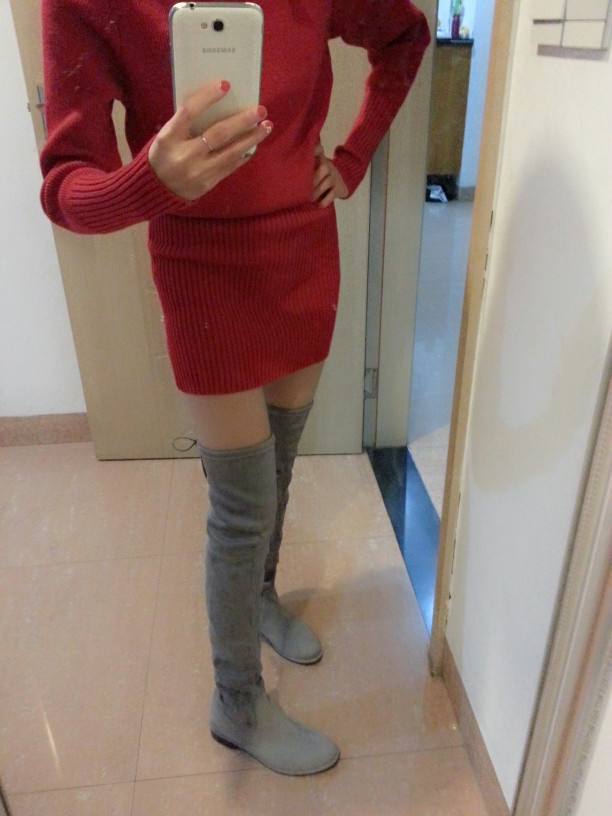 Lowland Boots Thigh High 5050 STUART Flat Heel Over The Knee Boots Woman  motorcycle booty Red Suede Leather Women Shoes WEITZMAN-in Over-the-Knee  Boots from ... 7e94ed9e314b