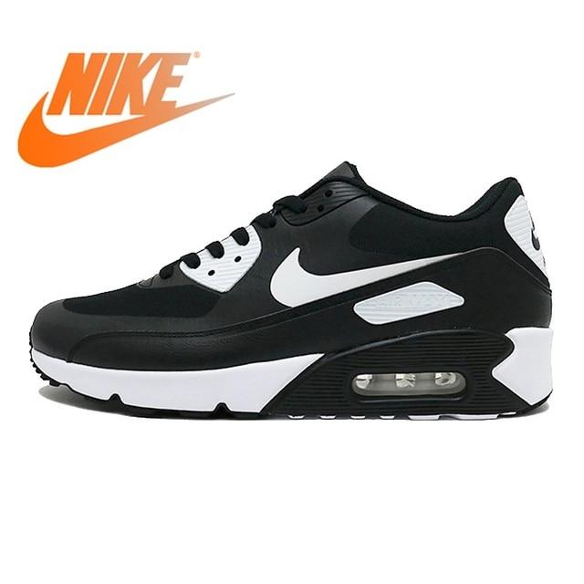 Original NIKE AIR MAX 90 ULTRA 2,0 hombres zapatos para correr zapatillas de deporte transpirables deporte al aire libre de los hombres zapatillas de deporte en blanco y negro 875695