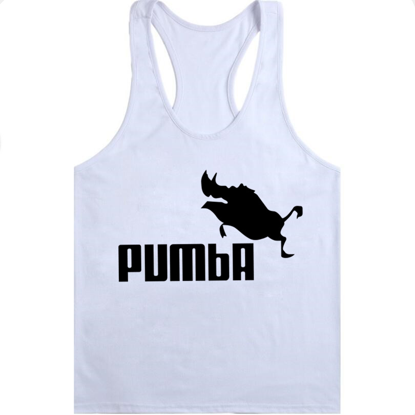 2018 funny tee cute   Tank     Top   homme Pumba men women cotton cool vest lovely kawaii summer jersey costume Bodybuilding   Tops