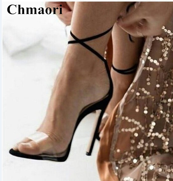 New 2018 PU Patent Leather Lace-up Woma Summer Gladiator Sandals Stiletto High Heels Dress Party Shoes Woman Buck Strap ShoesNew 2018 PU Patent Leather Lace-up Woma Summer Gladiator Sandals Stiletto High Heels Dress Party Shoes Woman Buck Strap Shoes