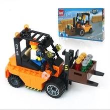 115 pcs Cartoon Truck  Blocks Assembled Toy Bricks DIY Assembling Early Educational Learning Classic Toys For Children