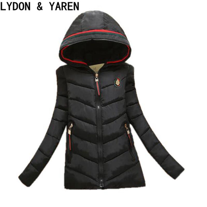 2017 new women/'s winter coat long paragraph Slim Down padded winter jacket