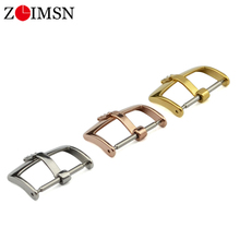 ZLIMSN Watch Buckle 16mm 18mm 20mm 316L Stainless Steel Watch Band Buckle Strap Clasp Replacement For Rolex