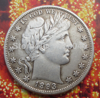 Hot Selling 1893 Barber Half Dollars COIN COPY High Quality Wholesale silver Pated