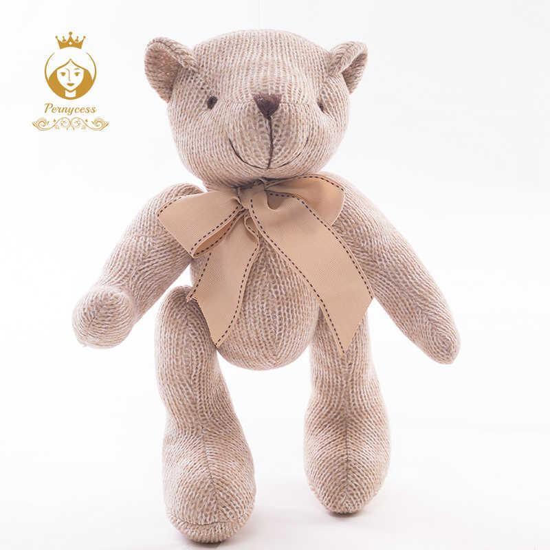 Tricô criativo ursinho de pelúcia bonecas de enchimento, as atividades pode suportar brinquedos de pelúcia urso, Bebê para apaziguar bonecas, crianças brinquedo