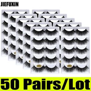 Image 4 - Pestañas de visón 3d, 50 pares, venta al por mayor, 10 cajas, pestañas de visón 3d, pestañas postizas largas naturales, extensión de ojos cilios g806 g800