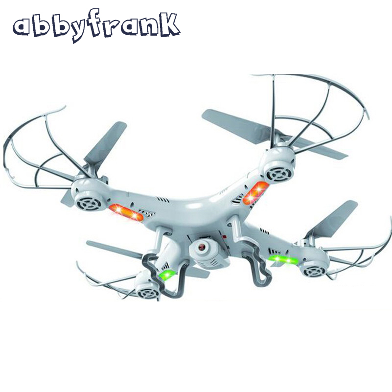 Abbyfrank X5C RC Aircraft Drone 2.4G 2MP HD Remote Control Drone Toys 4 CH 6 Axis Gyro With Camera Outdoor Flying Toy