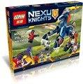 Nexoe рыцари лэнс святого меча лошадь фигурку бот Lancebot огнемет Minifigures совместимые legoe кирпич малыш игрушки новое
