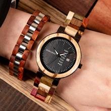 Timepieces Wooden Watch Men BOBO BIRD Quarzt Male Saat erkek relojes Wood Bracelet Show Date and Week in Gifts Wood Box все цены