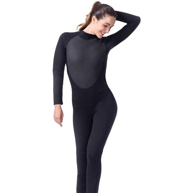 6e2f4cbeebf1e LIFURIOUS Swim Diving Neoprene Wetsuit Women Long Sleeve Swimsuit  Spearfishing Women Wetsuits One Piece Surfing Swimwear Wetsuit