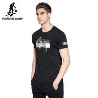 Pioneer Camp New T Shirt Men Brand Clothing Fashion Printed T Shirt Male Top Quality 100