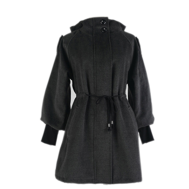 Здесь продается  2018autumn winter women woolen coat outerwear female mid long Hooded jacket women plus size wool coat Female Overcoat YM083  Одежда и аксессуары