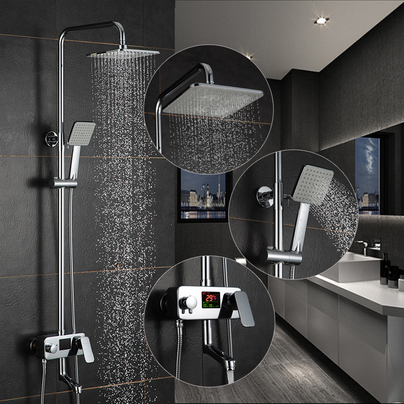 Bathroom Faucets Shower Faucets Shower System Supervision Rainfall Taps Plumbing Thermostatic Shower Room Crane Bath Tap 9200