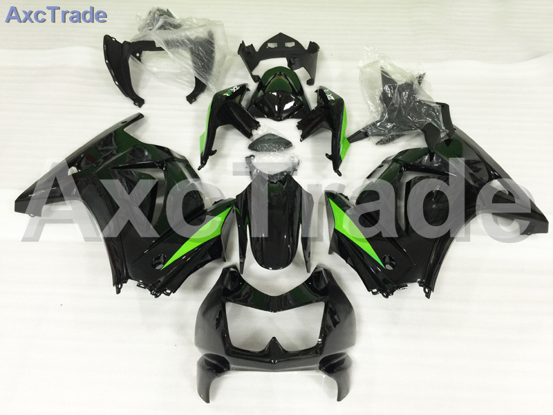 Motorcycle Fairings For Kawasaki Ninja 250 ZX250 EX250 2008-2012 08 - 12 ABS Plastic Injection Fairing Bodywork Kit Black A653