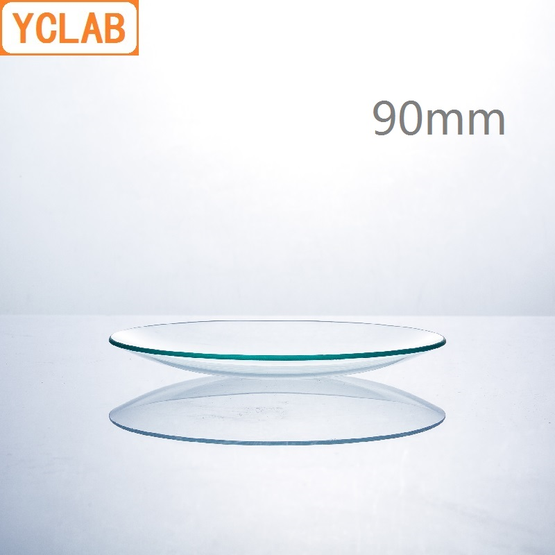 YCLAB 90mm Watch Glass Beaker Cover Domed Hard Glass Laboratory Chemistry Equipment
