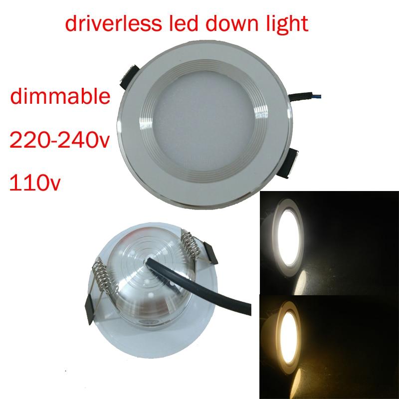10pcs lot Led Downlights 5W 7W 9W 12W 15W Dimmable 220V LED Ceiling Downlight 2835 Lamps Led Ceiling Lamp Home Indoor Lighting in LED Downlights from Lights Lighting