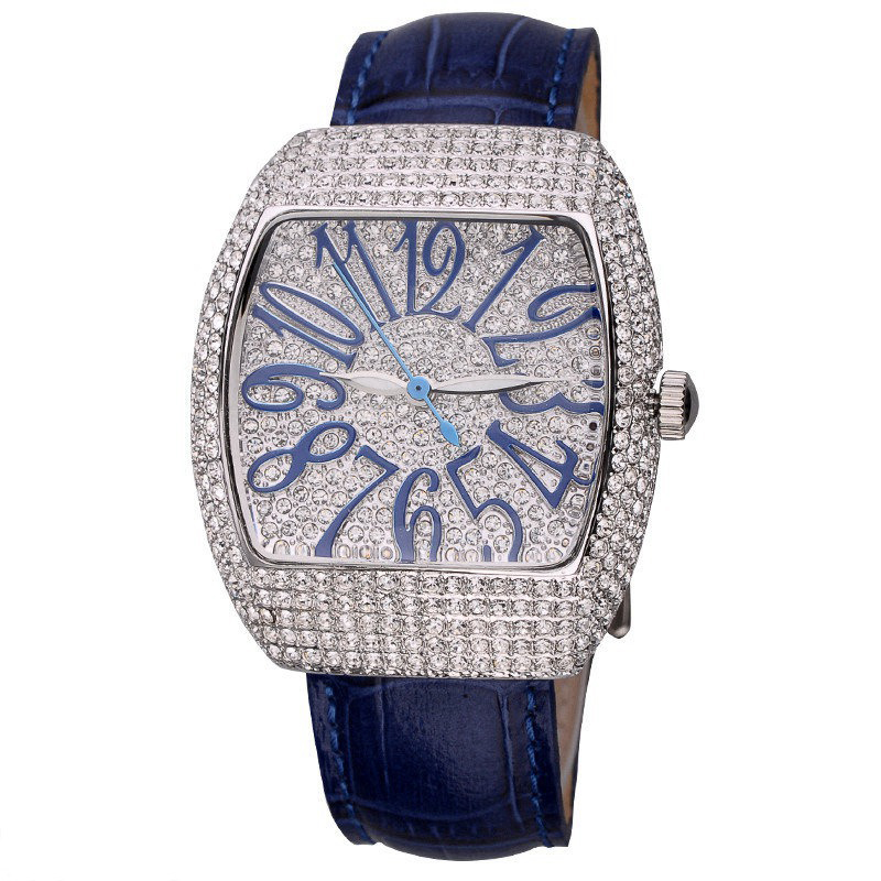 Full Diamond Female Watches Woman Quartz Watch Ladies Steel Watch Leather Bracelet Waterproof Clock Top Brand Luxury Reloj Mujer цена 2017