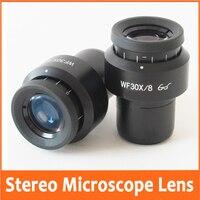 WF30X 8mm Zoom Estéreo Microscópio Biológico Laboratório Ajustável Alta Eyepoint Ocular Lens Optical com Montagem Tamanho 30mm