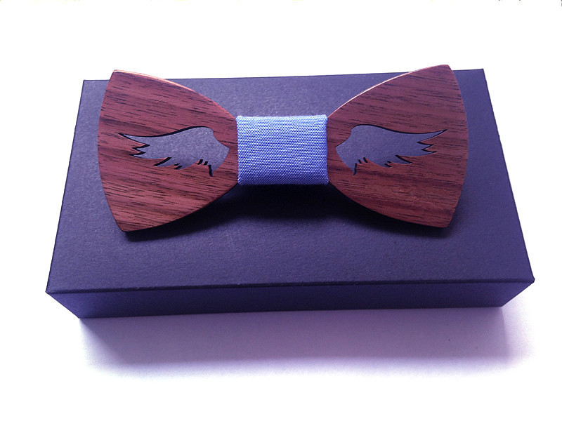 Wedding Tie Sets Handmade Wood Bow Ties Bowtie Butterfly  Ties For Men Wing Type Hollow Out Geometric Wooden Bow Tie Top Quality