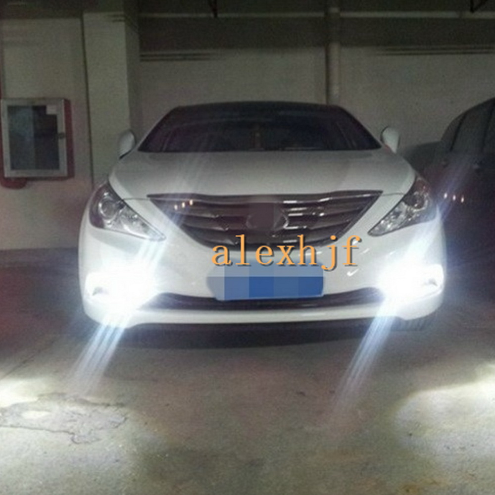 ФОТО LED Daytime Running Lights DRL with Plating Fog Lamp Cover Case for Hyundai 8th Sonata 2011~14, fast shipping