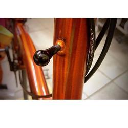 Składany zestaw słuchawkowy do rowerów mocowanie części ze stopu aluminium krab claw armatura na rower brompton mocowanie Buck główka ramy czarny srebrny 2.8g w Narzędzia do naprawy roweru od Sport i rozrywka na