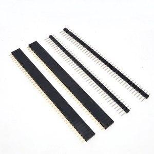 Image 5 - משלוח חינם 1lot = 10pcs 1x40 פין 2.54mm שורה אחת נקבה + 10pcs 1x40 פין זכר כותרת מחבר