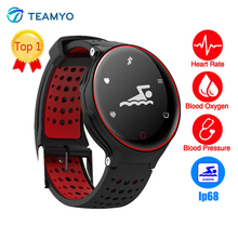 Teamyo H2 0.96 дюйма часы артериального давления кислорода монитор сердечного ритма pulsometro IP68 Водонепроницаемый Smart Браслет фитнес-браслет