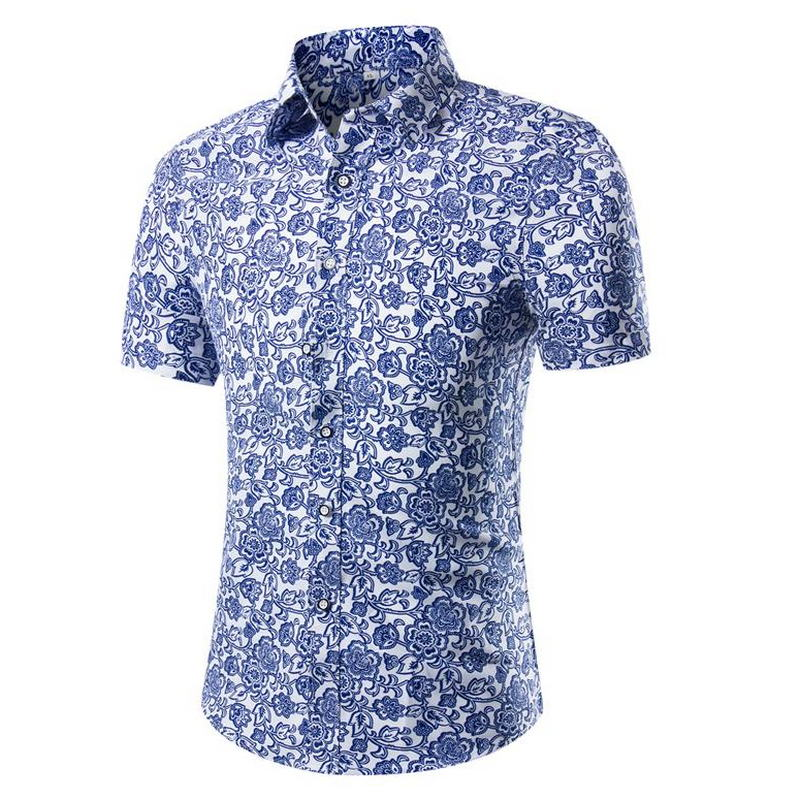 2019 Men's Fashion Cultivate One's Morality Short Sleeve Men Shirt Printing Man Shirt In Summer
