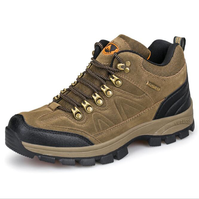 New Arrival Men Hiking Shoes Waterproof Leather Shoes Climbing & Fishing Shoes New Popular Outdoor Shoes Men High Winter Wear
