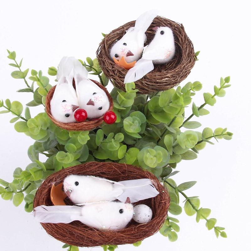 Micro Kunstvogels Nest Simulatie Eieren Model Voor Fairy Tuin - Feestversiering en feestartikelen