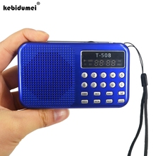 Mini Portable dual band Rechargeable Digital LED display panel Stereo FM Radio Speaker USB TF mirco for iPhone Tablet PC MP3