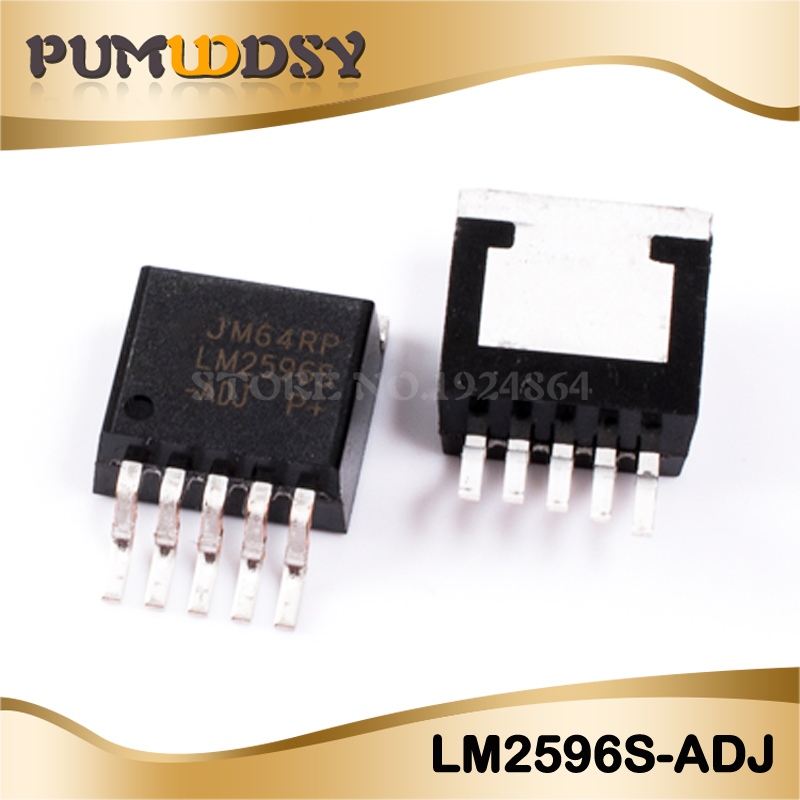 10PCS LM2596S-ADJ TO-263 LM2596S LM2596 REG BUCK ADJ 3A TO263-5 Quality Nmd Boost Usb Channels Diy Regulator