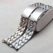 19 mm T461 PRC200 T17 T014430 T014410 correa partes de relojes para hombre tira sólido pulsera de acero inoxidable correa para relojes deportivos