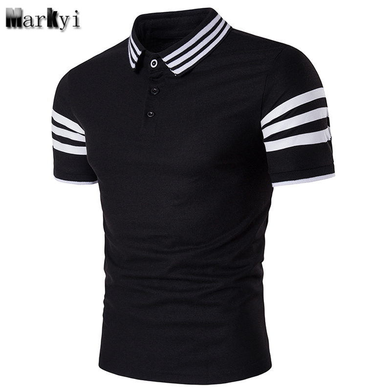 Markyi Striped Mens Polo Shirt Brands 2018 Good Quality Short Sleeve