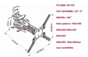 """Image 5 - NB P5 32 """" 52"""" 42 """"50"""" 6 bras VESA400X400 200X200 rétractable plein mouvement LCD TV montage mural bras mobile support tv ascenseur mécanisme"""