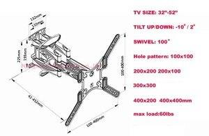 """Image 5 - NB P5 32 """" 52"""" 42 """"50"""" 6 brazo VESA400X400 200X200 retráctil movimiento completo LCD TV montaje pared brazo movible soporte tv mecanismo de elevación"""